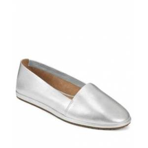 Aerosoles Holland Slip On Flats Women's Shoes  - Silver Leather