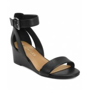 Aerosoles Willowbrook Wedge Sandals Women's Shoes  - Black Leather