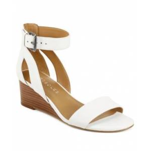 Aerosoles Willowbrook Wedge Sandals Women's Shoes  - White Leather