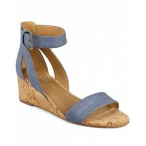 Aerosoles Willowbrook Wedge Sandals Women's Shoes  - Mid Blue