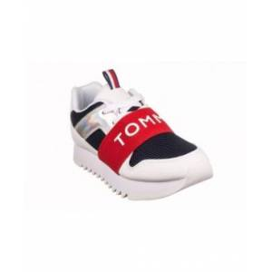 Tommy Hilfiger Little Girls Leslee Jogger Sneakers  - White