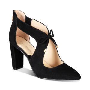 Adrienne Vittadini Nigel Shooties Women's Shoes  - Black Suede