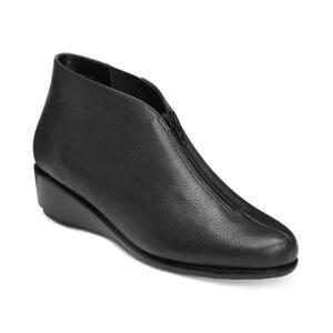 Aerosoles Allowance Booties Women's Shoes  - Black Leather