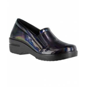 Easy Street Women's Easy Works Leeza Slip Resistant Clogs Women's Shoes  - Iridescent Patent