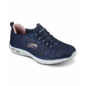 Skechers Women's Relaxed Fit - Empire D'Lux - Charming Grace Athletic Walking Sneakers from Finish Line  - Navy, Rose Gold