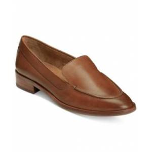 Aerosoles East Side Loafers Women's Shoes  - Dark Tan Leather