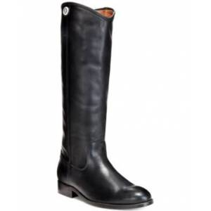 Frye Women's Melissa Button 2 Tall Leather Boots Women's Shoes  - Black
