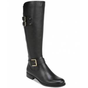 Naturalizer Jessie Leather Riding Boots Women's Shoes  - Black
