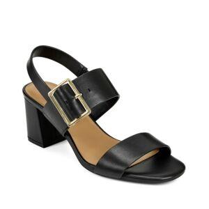 Aerosoles Essex Block Heel Dress Sandals Women's Shoes  - Black Leather