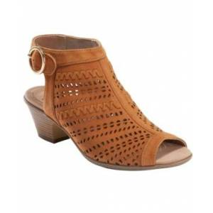Earth Women's Carson Hamden Peep Toe Sandal Women's Shoes  - Cognac