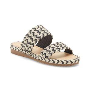Lucky Brand Women's Decime Woven Slide Sandals Women's Shoes  - Black Multi