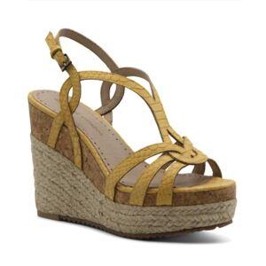 Adrienne Vittadini Women's Clutch Platform Wedge Sandals Women's Shoes  - Yellow