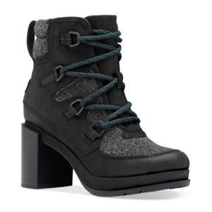 Sorel Women's Blake Waterproof Lace-Up Booties Women's Shoes  - Black