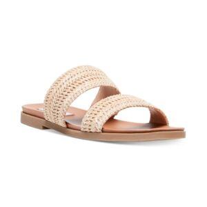 Steve Madden Women's Dede Woven Slide Sandals  - Natural Raffia