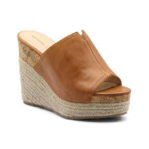 Adrienne Vittadini Cherli Platform Wedge Sandals Women's Shoes  - Clementine