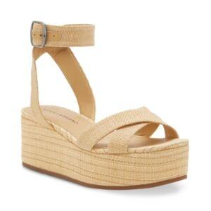 Lucky Brand Women's Bikaro Espadrille Wedge Sandals Women's Shoes  - Natural
