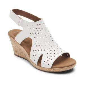 Rockport Women's Briah Hood Slingback Wedges Women's Shoes  - White