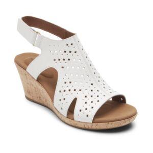 Rockport Women's Briah Hood Slingback Wedges Women's Shoes  - White