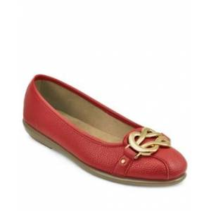 Aerosoles Big Bet Ballet Flat with Ornament Women's Shoes  - Red