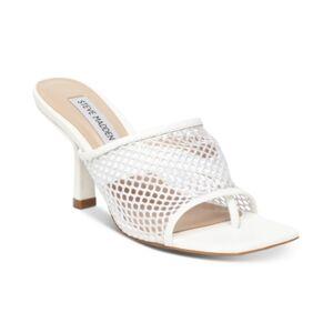 Steve Madden Women's View Mesh Slide Sandals  - White