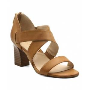 Adrienne Vittadini Rowsey Cross Band Sandals Women's Shoes  - Macadamia