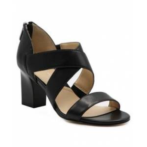 Adrienne Vittadini Rowsey Cross Band Sandals Women's Shoes  - Black