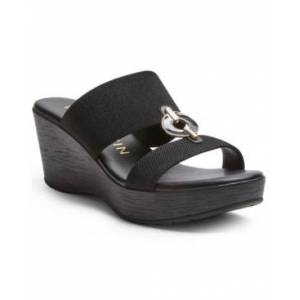 Anne Klein Hadya Wedge Sandals  - Black