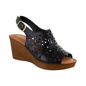 Bella Vita Deb-Italy Women's Wedge Sandals Women's Shoes  - Black