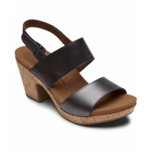 Rockport Vivianne Metallic Dress Sandals Women's Shoes  - Black