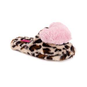 Betsey Johnson Women's Heart Slippers  - Cheetah/pi