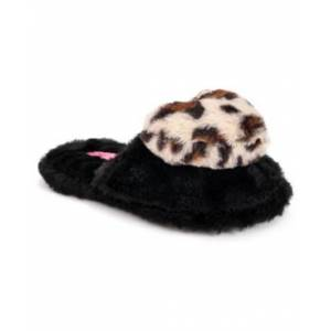 Betsey Johnson Women's Heart Slippers  - Black/chee
