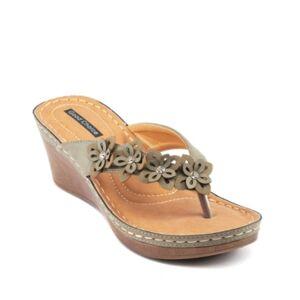 Gc Shoes Rachel Wedge Sandal Women's Shoes  - Green