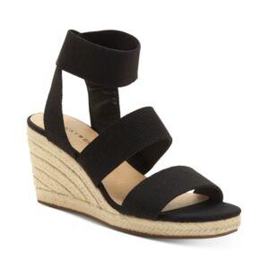 Lucky Brand Women's Mindara Wedges Sandals Women's Shoes  - Black