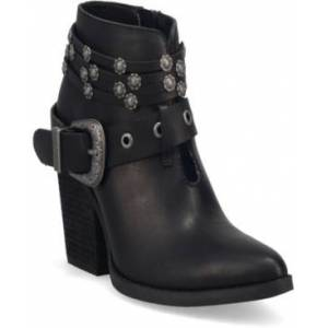 Dingo Women's Born to Run Leather Bootie Women's Shoes  - Black