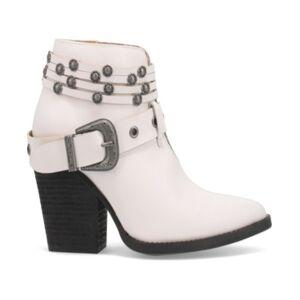 Dingo Women's Born to Run Leather Bootie Women's Shoes  - White