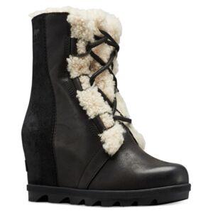 Sorel Joan of Arctic Wedge Ii Shearling-Trim Booties Women's Shoes  - Black