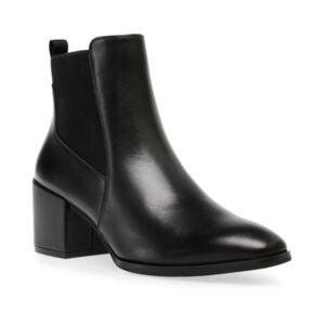 Anne Klein Parson Chelsea Booties  - Black Leather