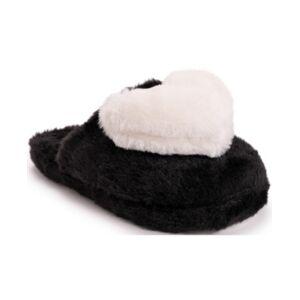 Betsey Johnson Women's Heart Slippers  - Black/White