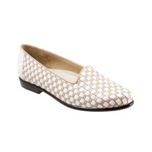 Trotters Liz Slip On Women's Shoes  - White Nude