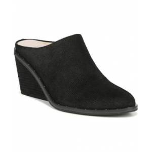 Dr. Scholl's Women's Maxwell Mules Women's Shoes  - Black Linear Embossed Suede