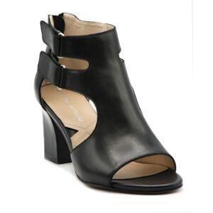 Adrienne Vittadini Rea Block Heel Sandals Women's Shoes  - Black