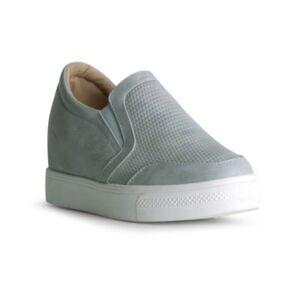 Danskin Amaze Slip On Wedge Sneaker Women's Shoes  - Gray