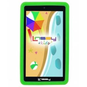 "Linsay 7"" New Kids Funny Tablet Pc Android 10 with Green Defender Case Dual Camera  - Black"