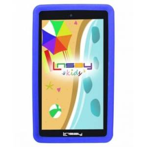 """Linsay 7"""" New Kids Funny Tablet Pc Android 10 with Blue Defender Case Dual Camera  - Black"""