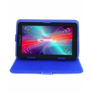 "Linsay 7"" New Quad Core Tablet Bundle with Blue Leather Case Android 10 Dual Camera  - Black"