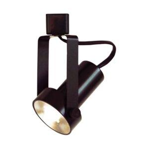 Volume Lighting 1-Light Integrated Led Mini Adjustable Step Cylinder Track Head  - Black