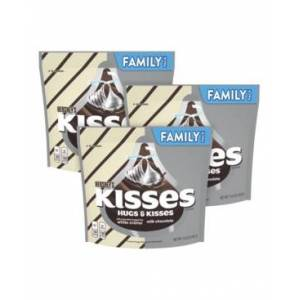 Hershey's Kisses and Hugs Chocolate Candy Assortment, 15.6 oz, 3 Pack