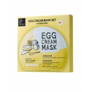 Too Cool For School Egg Cream Mask Hydration (Set of 5)