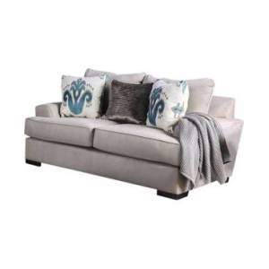 Furniture of America Maddaugh Upholstered Love Seat  - Gray