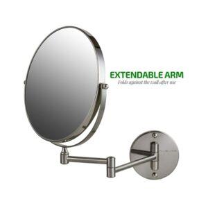 Ovente Wall Mounted Vanity Makeup Mirror  - Gray